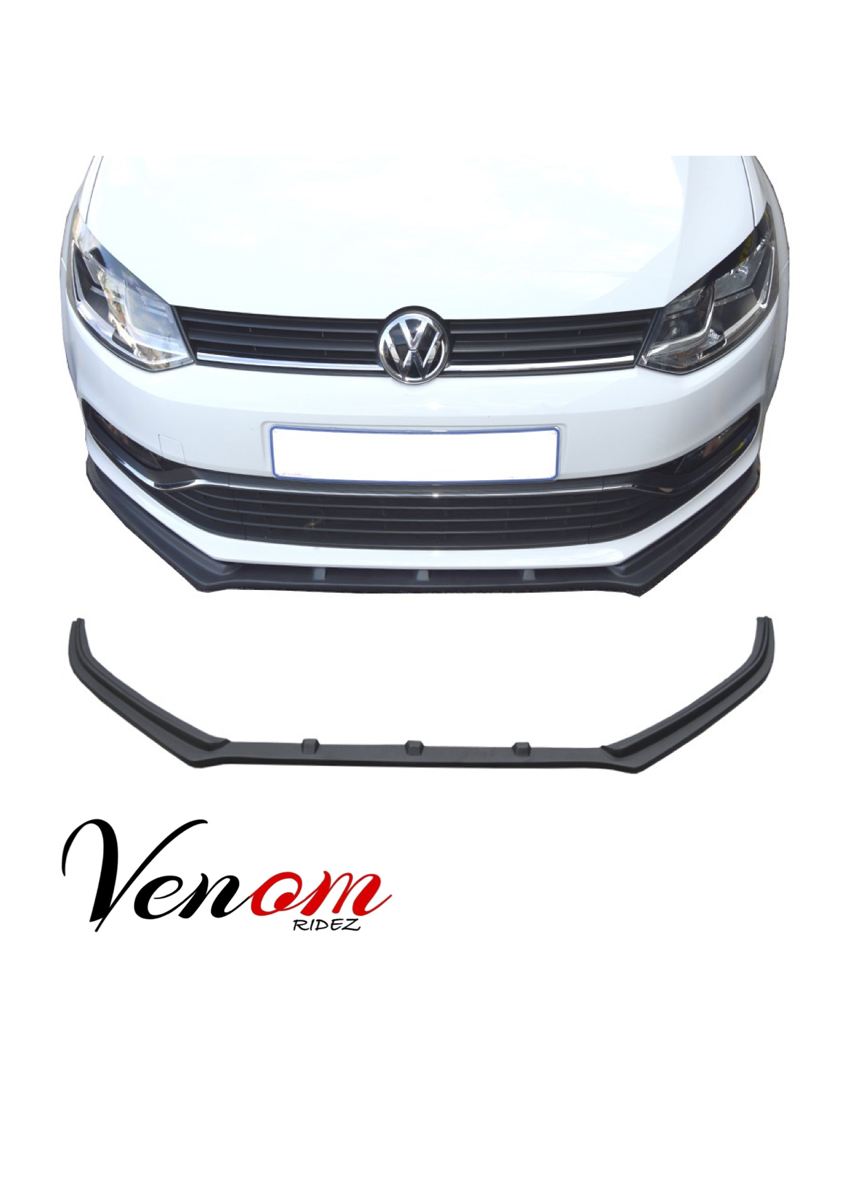 vw polo plastic r style front spoiler. Black Bedroom Furniture Sets. Home Design Ideas